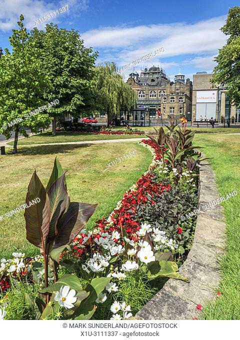 The Royal Hall from Crescent Gardens in Summer Harrogate North Yorkshire England