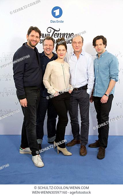 "Actors promoting the new Series """"Frau Temme sucht das Glueck"""" at Side Hotel Featuring: Sebastian Schwarz, Ronald Kukulies, Meike Droste, Martin Brambach"