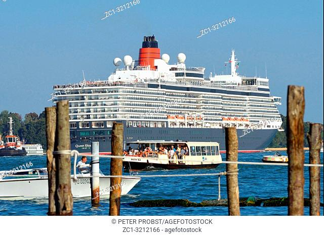 Cruise ship in the Lagoon of Venice - Italy
