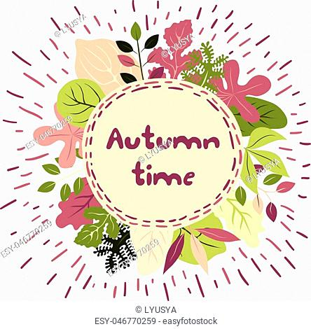 Vector frame with autumn leaves