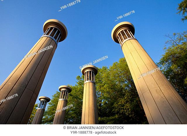 Carillon bell towers in Bicentennial Park, Nashville Tennessee USA