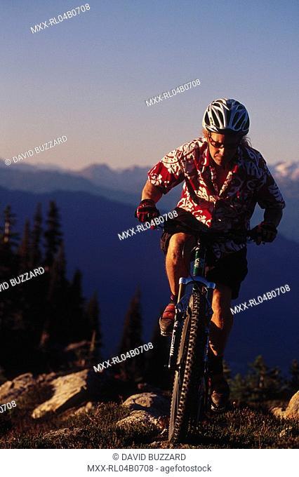 Mountain biking, Whistler Mountain, BC