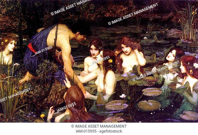 Hylas and the Nymphs', 1896. Oil on canvas. John William Waterhouse 1849-1917 English painter. Greek mythology, Hylas, son of King Theiodamas of the Dryopians