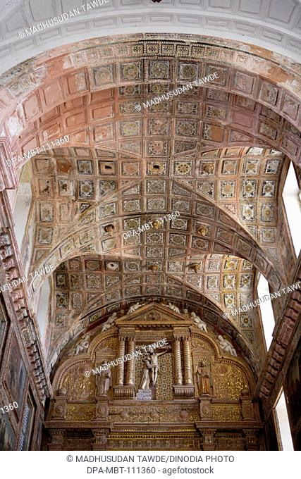 Ceiling Decoration Of Church Of St. Francis Of Assisi ;  Built In 1521 A.D. ; UNESCO World Heritage Site ; Old Goa ; Velha Goa ; India