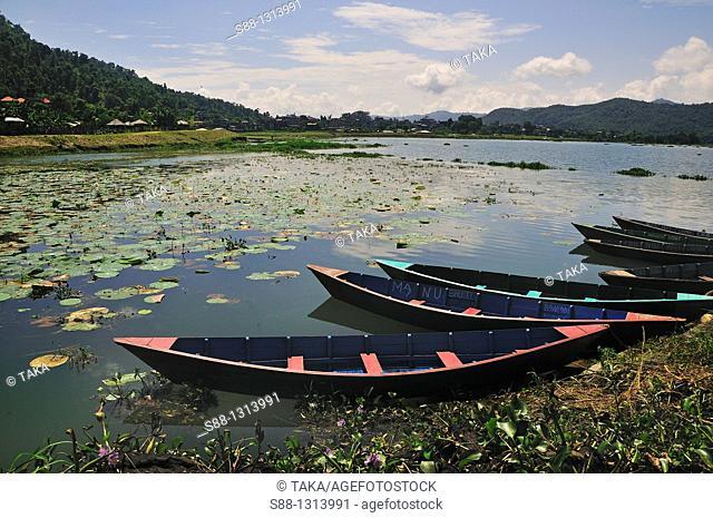 Fewa lake in Pokhara