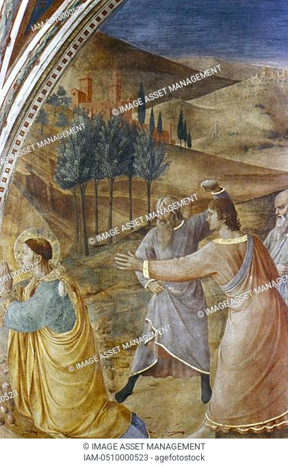 Fra Angelico Guido di Pietro/Giovanni da Fiesole c1400-55 Italian painter  'Stoning of St Stephen', Fresco, Chapel of Nicholas V, Vatican Palace