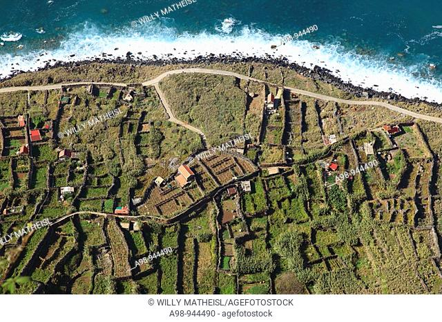 typical traditional gardens at the steep coast of Madeira, Portugal, Europe