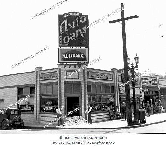 Los Angeles, California: c. 1928 The AutoBanx has received piles of mail at their front door