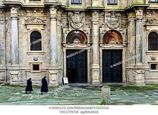 Nuns going to church, Santiago de Compostela