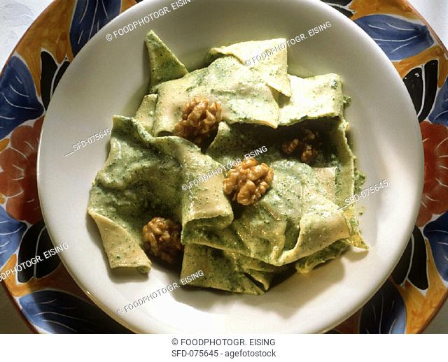 Pansooti, filled Pasta triangles