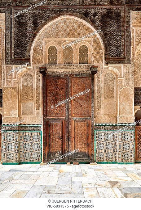 MOROCCO, FEZ, 23.05.2016, Bou Inania Madrasa, Medina of Fez, Morocco, Africa - Fez, Morocco, 23/05/2016
