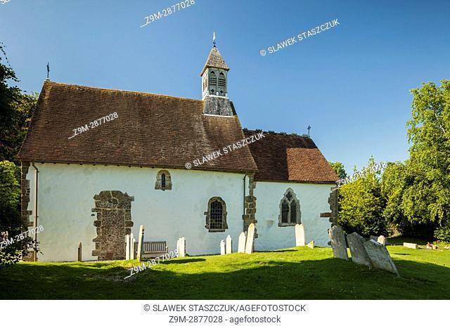 St Botolph's church in Hardham village, West Sussex, England