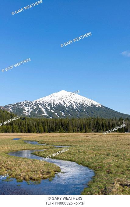 View of snowcapped Mount Bachelor