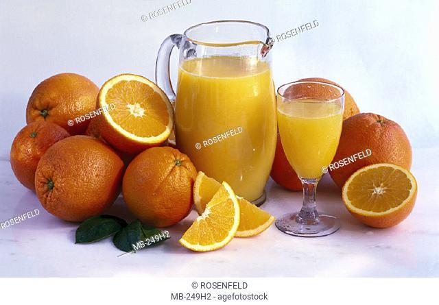 Orange juice, Glass, Jug