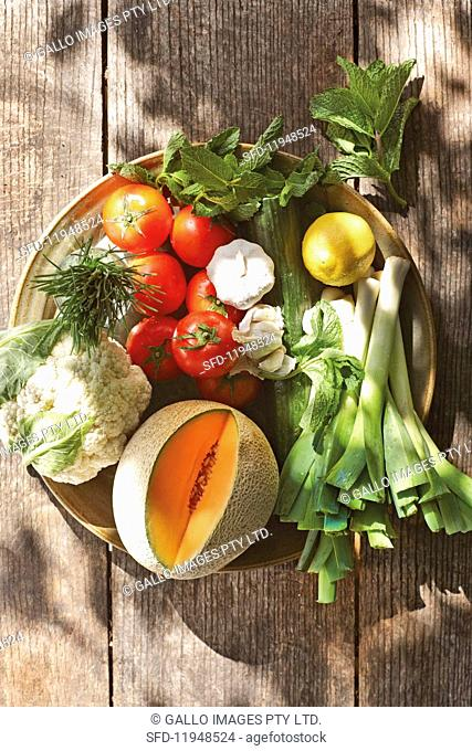 Ingredients for cold summer soups