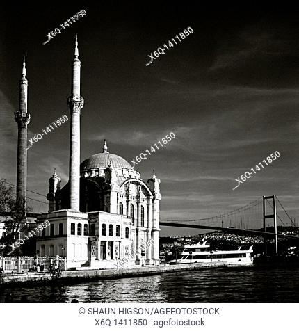 Ortakoy Mosque at Ortakoy in Istanbul in Turkey in the Middle East