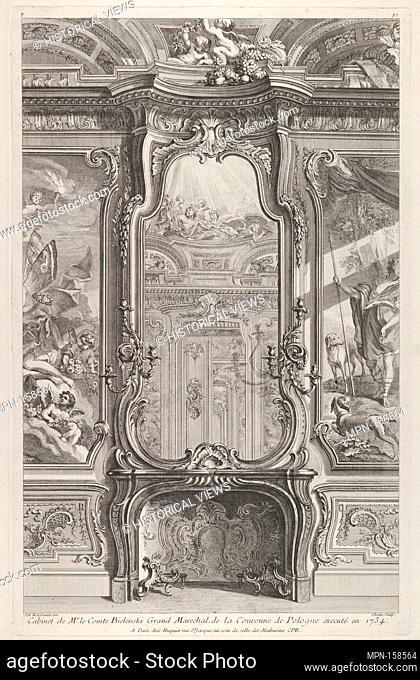 Cabinet de Mr le Compte Bielinski, from 'Oeuvres de Juste Aurelle Meissonnier'. Artist: Juste Aurèle Meissonnier (French