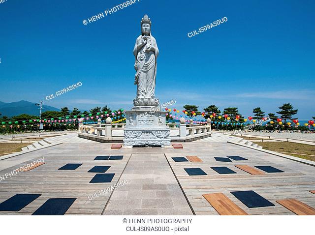Buddha statue in Naksansa Temple, Naksansa, Yangyang, Gangwon province, South Korea