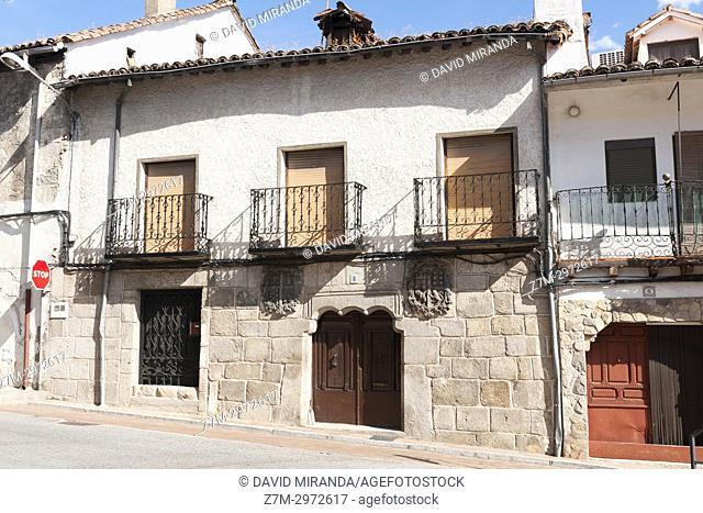 Casa blasonada. Mombeltrán. Barranco de las cinco villas. Valle del Tiétar. Provincia de Ávila, Castile-Leon, Spain