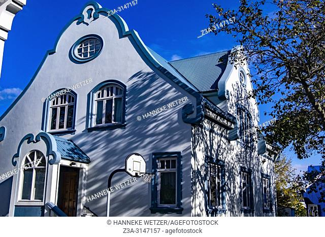Modern house in Reykjavic, Iceland