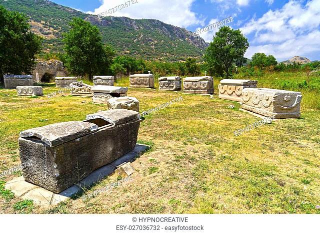 The ancient Greek-Roman city of Ephesus or Efes located near Selcuk town of Izmir Turkey