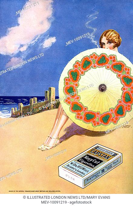 Capstan cigarettes - on the beach