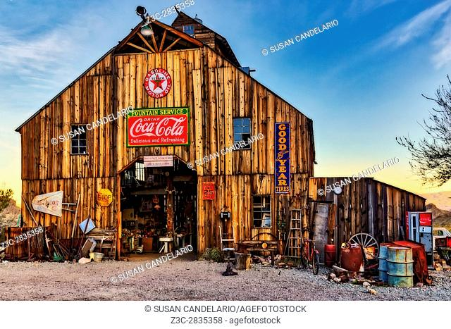 Ghost Town Barn - Vintage barn filled with antiques and signs