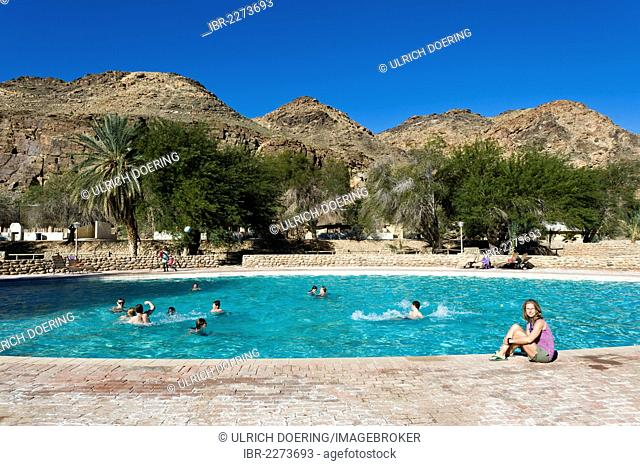 Ai-Ais hot springs, swimming pool in Ai-Ais - Richtersveld Transfrontier National Park, Namibia, Africa