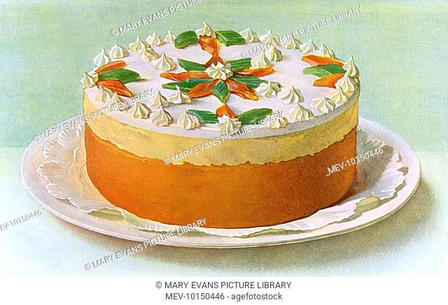 GINGER CAKE tastefully decorated with angelica