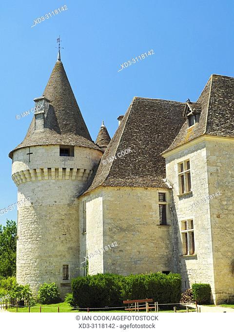 Chateau Bridoire, Dordogne Department, Nouvelle-Aquitaine, France