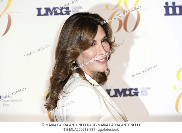 Jo Champa during red carpet of 60/90 party, for 60 years of career and ninetieth birthday of Fulvio Lucisano, Italian Film Producer