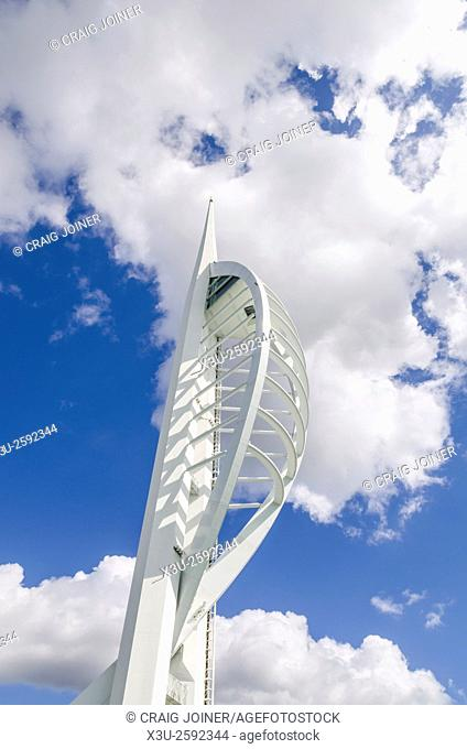 Spinnaker Tower overlooking the Solent at Portsmouth Harbour, Hampshire, England