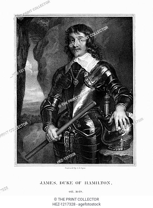 James Hamilton, 1st Duke of Hamilton, Scottish nobleman, (1823). Hamilton (1606-1649) was the great-grandson of Catherine