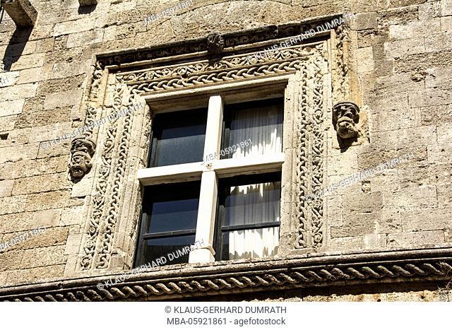 Rhodes, Ritterstrasse (knight's street)knights streetwindow in the Italian accommodation