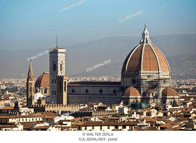 View of Florence cathedral, Florence, Tuscany, Italy