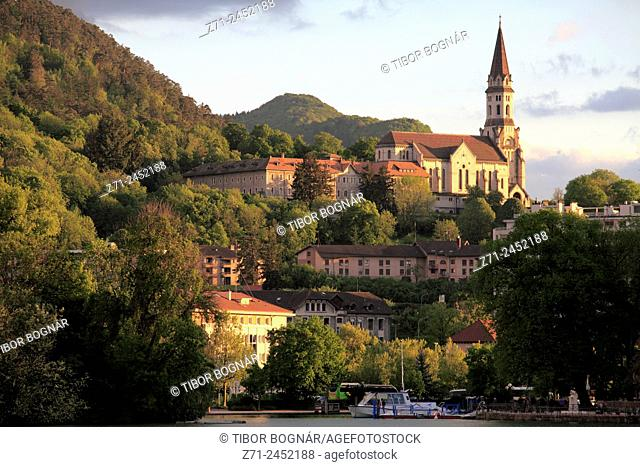 France, Rhône-Alpes, Annecy, lake, Basilique de la Visitation