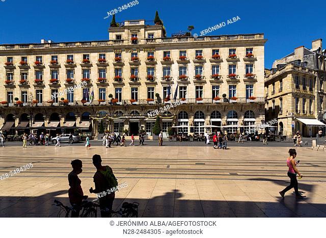 Grand Hôtel de Bordeaux, Place de la Comedie square, Gironde, Aquitaine, France, Europe
