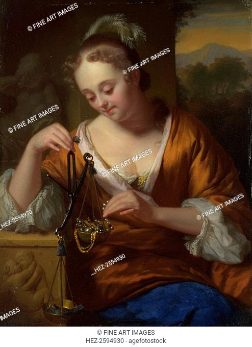 Allegory of Virtue and Riches, ca. 1665-1667. Found in the collection of the National Gallery, London