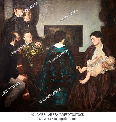 """""""Largo"""", 1911, Paul Rieth, National Museum of Catalan Art, Museu Nacional d Art de Catalunya, MNAC, Barcelona, Spain, Europe"