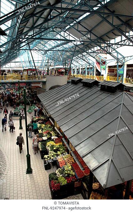 Market hall Lehel Csarnok, Pest, Budapest, Hungary