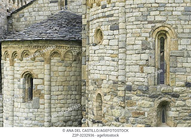 San Climent de Taull romanesque church in Taull village Bohi valley Lleida Catalunya Spain