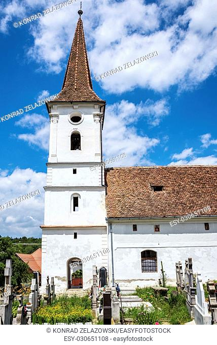 Holy Trinity church in Saxon village Sibiel in Romania