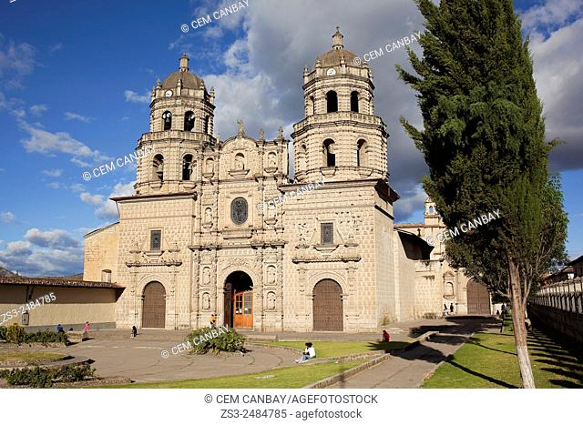 San Francisco Church at Plaza de Armas, Iglesia de San Francisco, Cajamarca, Northern Highlands, Peru, South America