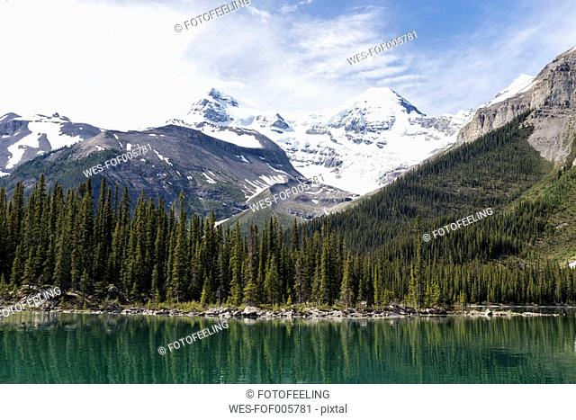 Canada, Alberta, Jasper National Park, Maligne Mountain, Maligne Lake