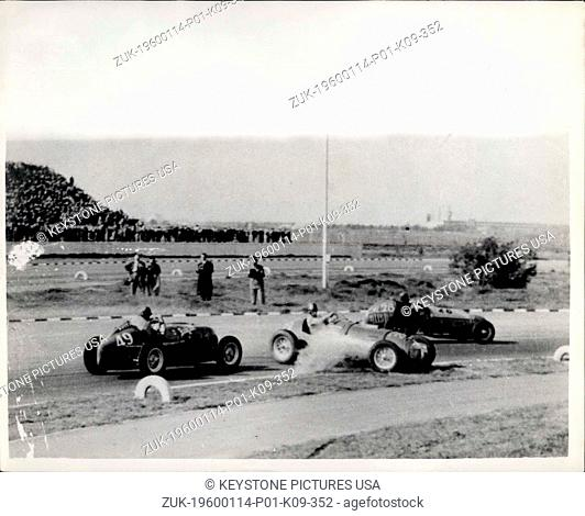 1950 - Photo shows the start of the triple accident . Gar No. 29 appears to be leaving the track and stops owing to mechanical breakdown as Gar No