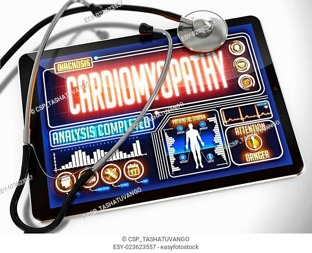 Cardiomyopathy on the Display of Medical Tablet