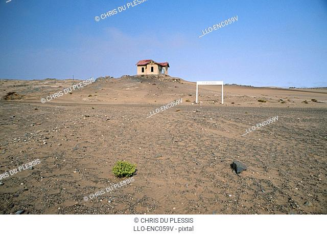 A House on a Hill in the Desert  Luderitz District, Southern Region, Namibia