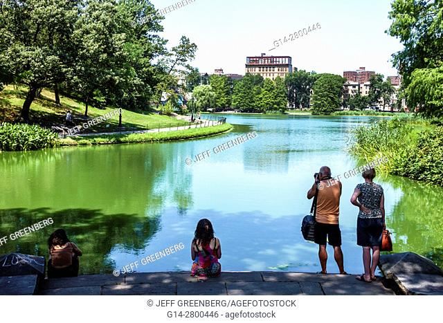 New York, New York City, NYC, Manhattan, Spanish Harlem, Central Park, urban, Harlem Meer, lake