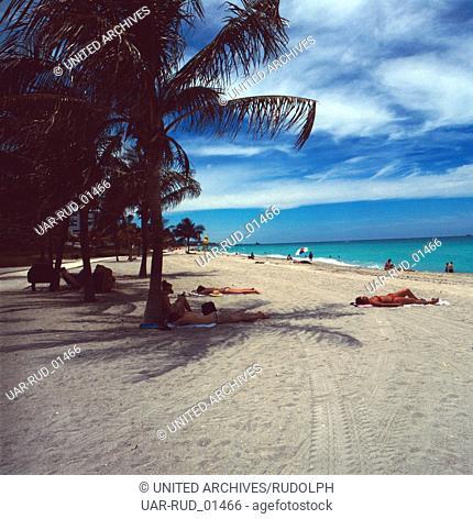 Strandurlaub in Miami Beach, Florida, USA 1980er Jahre. Vacation in Miami Beach, Florida, USA 1980s