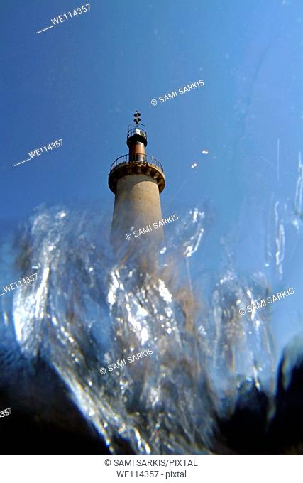 France cassis the cassidaigne lighthouse from underwater